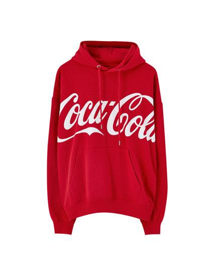 Red Coca-Cola hoodie