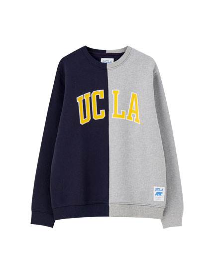 UCLA x Pull&Bear colour block sweatshirt