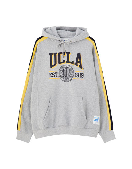 UCLA x Pull&Bear hoodie with stripes