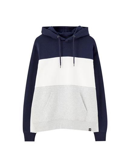 Basic panelled hoodie