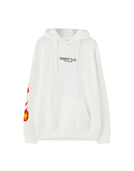 Sweatshirt med 'Midnight Club'