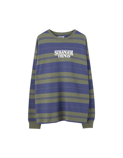 Striped Stranger Things 3 sweatshirt