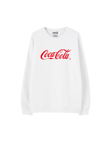 White Coca-Cola sweatshirt