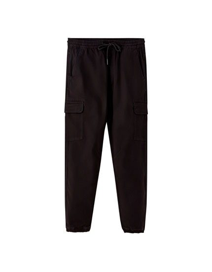 Elasticated cargo beach trousers
