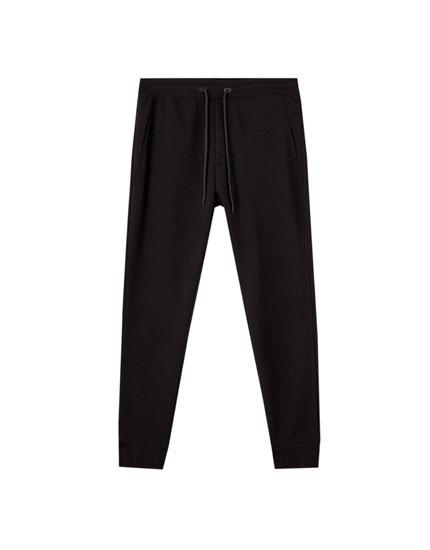 Pantalon jogger structure piqué