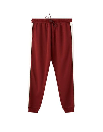 Pantalón jogging banda lateral contraste