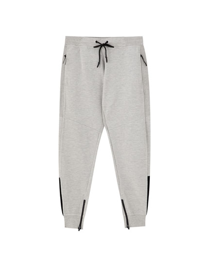 Παντελόνι jogging basic με πλέξη ottoman