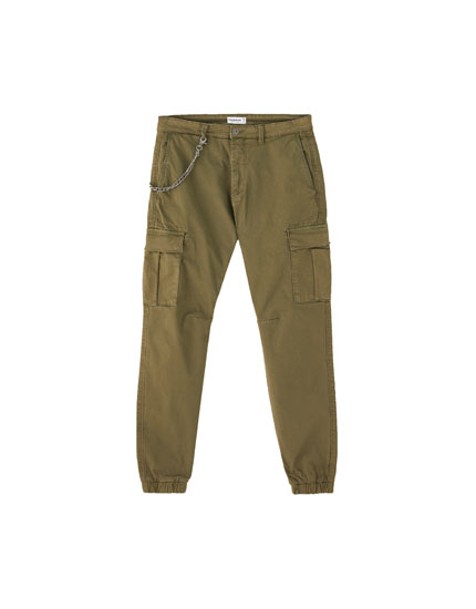 Slim fit cargo-style chinos