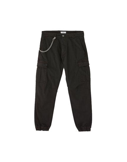 Pantalón chino cargo slim