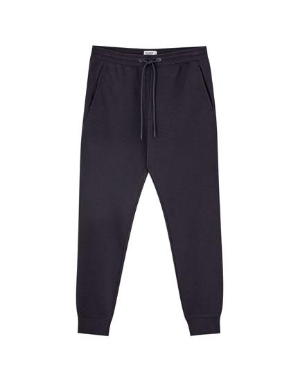 Παντελόνι jogging με πικέ ύφανση