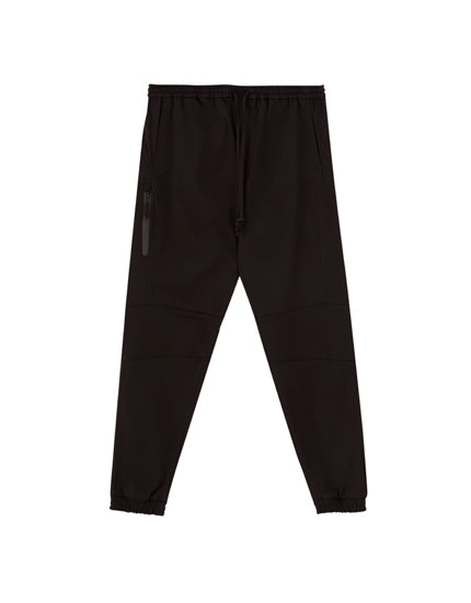 Black tech beach trousers