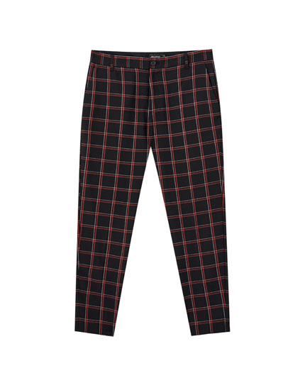 Καρό παντελόνι tailoring skinny