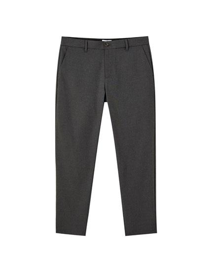 Pantalon chino coupe tailleur basique