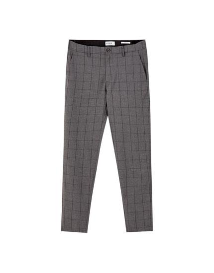 Εμπριμέ παντελόνι τσίνο skinny tailoring