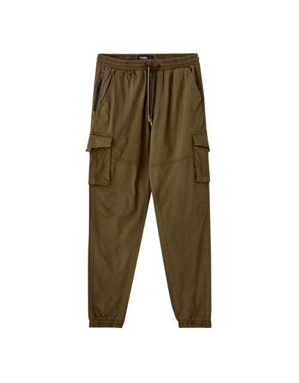 Basic ripstop cargo trousers