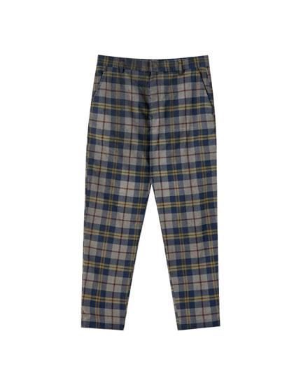 Παντελόνι chino καρό