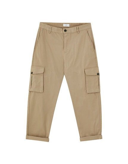Cargo trousers with flap pockets