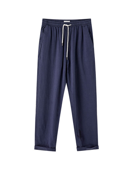 Joggers with contrast drawstrings