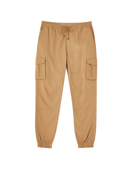 Coloured cargo joggers