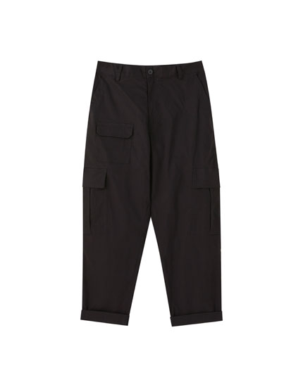 Worker trousers with pockets