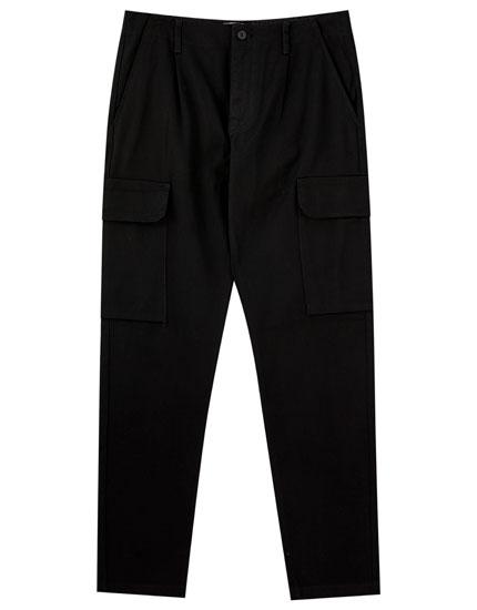 Pantalón cargo cadena cintura