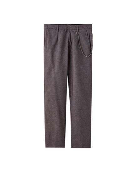 Παντελόνι τσίνο tailoring με αλυσίδα