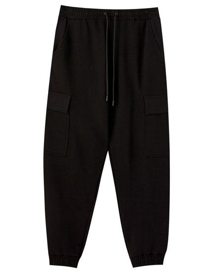 Pantalon jogger cargo noir