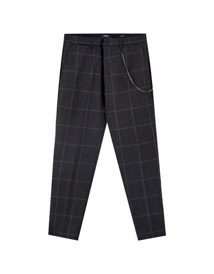 Καρό παντελόνι τσίνο tailoring