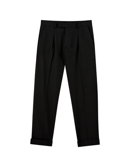Tailored wide-leg trousers