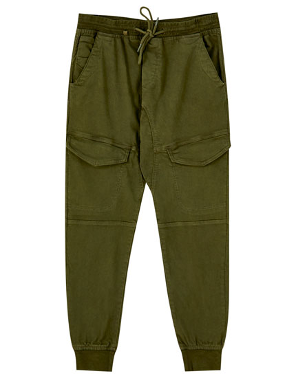 Jogger fit beach cargo trousers