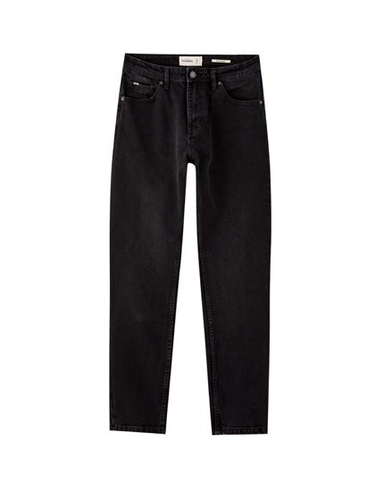 Black regular fit comfort jeans