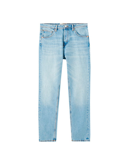 Regular comfort fit blue jeans