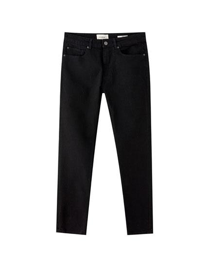 Schwarze Slim-Komfort-Jeans