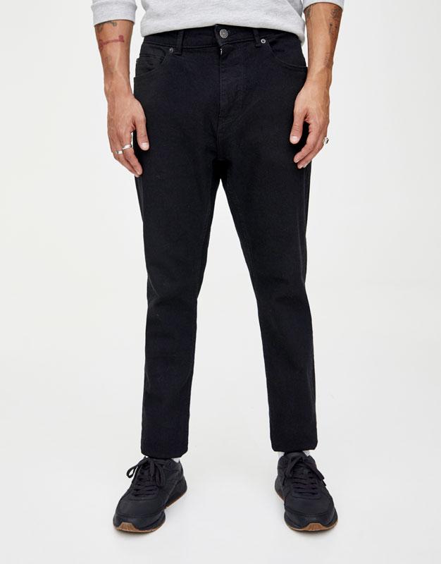 79590c2ee2b7 PullAndBear - jeans slim comfort fit neri - nero - 09682516-I2019