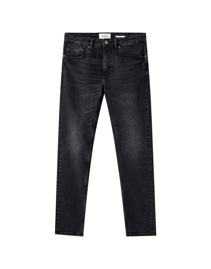 Faded black slim comfort fit jeans