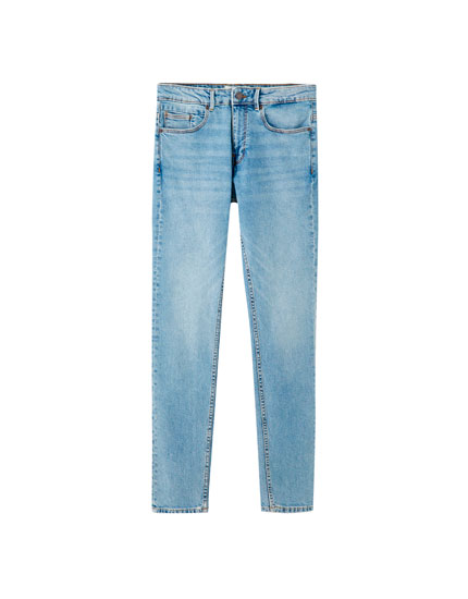 Medium blue slim comfort fit jeans