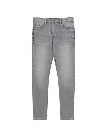 Medium grey slim comfort fit jeans