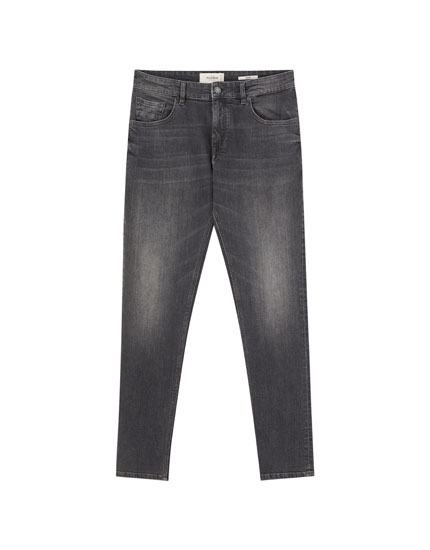 Jeans skinny gris oscuro