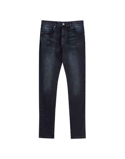 Dark super skinny jeans