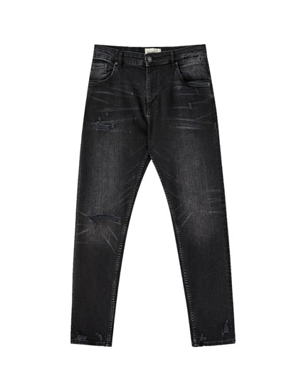 Jeans carrot fit premium rotos
