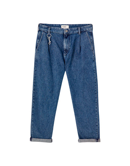 Wide-leg chino jeans