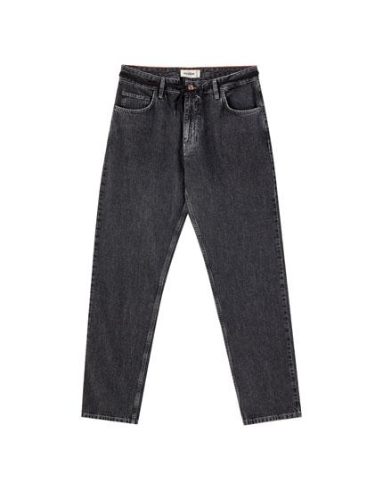 Wide-leg slouchy jeans