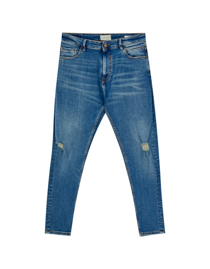 Carrot fit ripped jeans