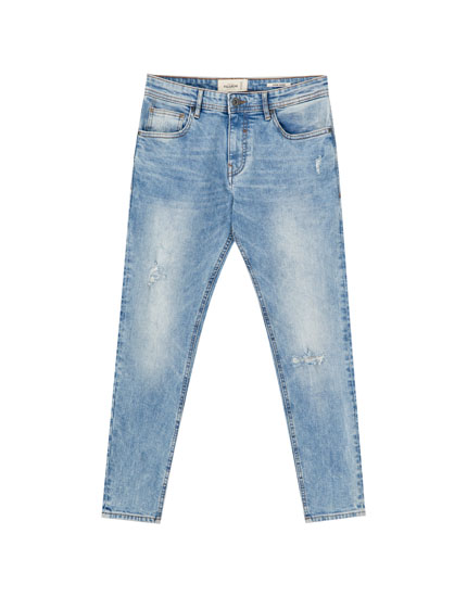 Premium ripped super skinny jeans