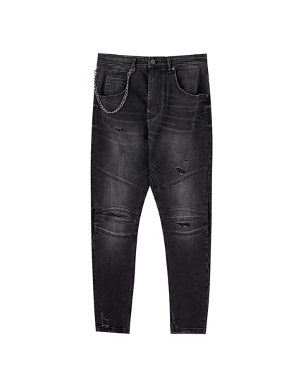 Ripped arc fit jeans