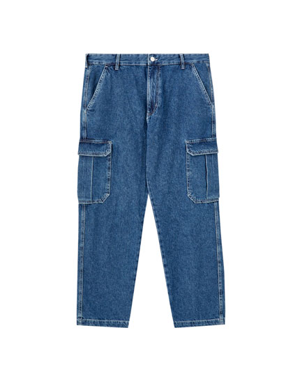 Cargo jeans with pockets