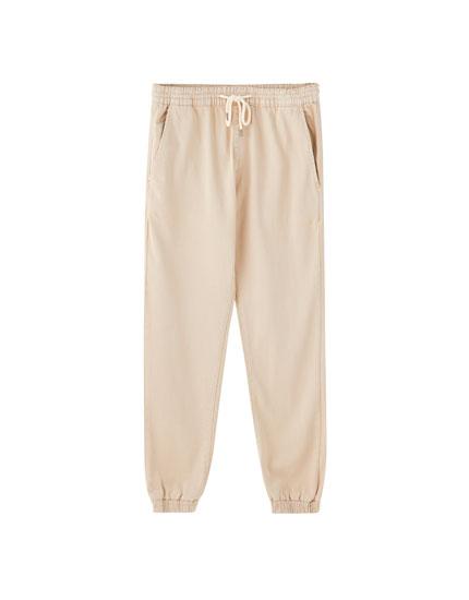 Jeans jogging cintura elástica