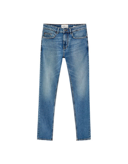 Jeans slim confort fit azul medio