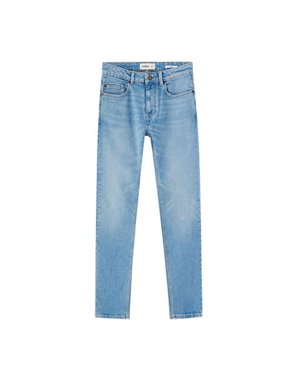 Texans slim comfort fit blau clar
