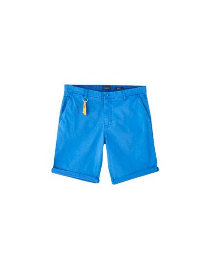 Colourful chino Bermuda shorts